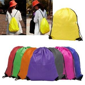 2020 Fashion Drawstring Cinch Sack Bag Sport Beach Travel Outdoor Backpack Bags Sport Drawstring Bags(China)