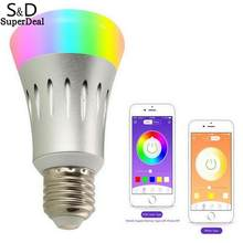 Smartphone Smart LED Light Bulb WiFi Controlled Dimmable Multicolor Night Light(China)