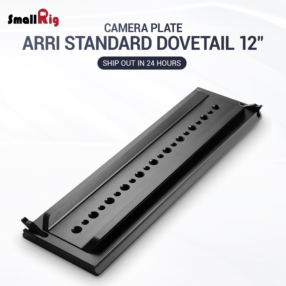 SmallRig DSLR Camera Quickly Release Plate Standard ARRI Dovetail Clamp ARRI Standard Dovetail 12 Inches 1463