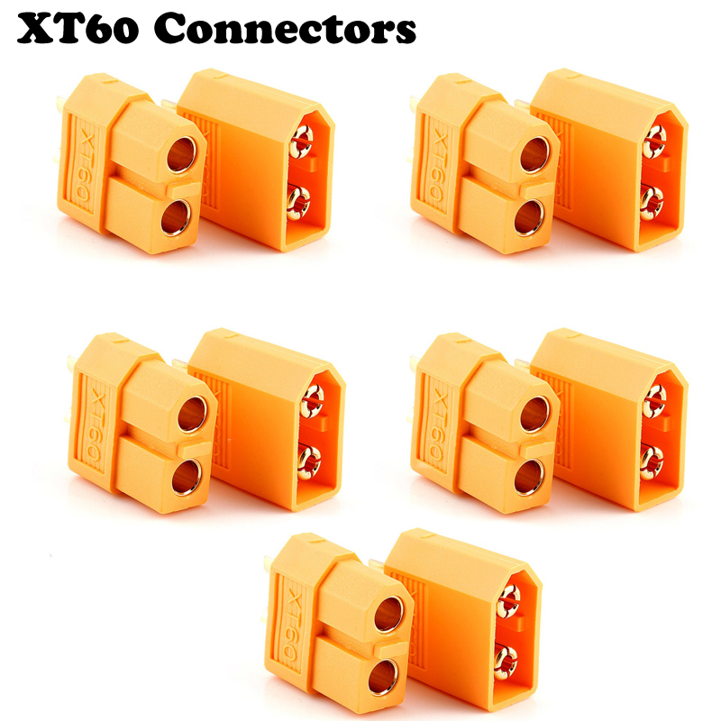цена на 10pcs XT60 XT-60 Male Female Bullet Connectors Plugs For RC Lipo Battery (5 pair) Wholesale