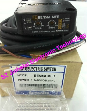 100% New and original  BEN5M-MFR  AUTONICS  PHOTOELECTRIC SWITCH new and original e3x da11 s omron optical fiber amplifier photoelectric switch 12 24vdc