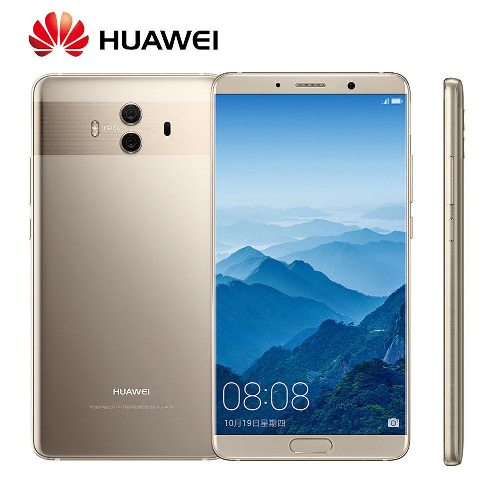 Mondial Rom Huawei Compagnon 10 Android 8.0 Mise À Jour OTA Kirin970 Octa base D'empreintes Digitales 20MP Arrière caméra 4g LTE D'empreintes Digitales mobile Téléphone