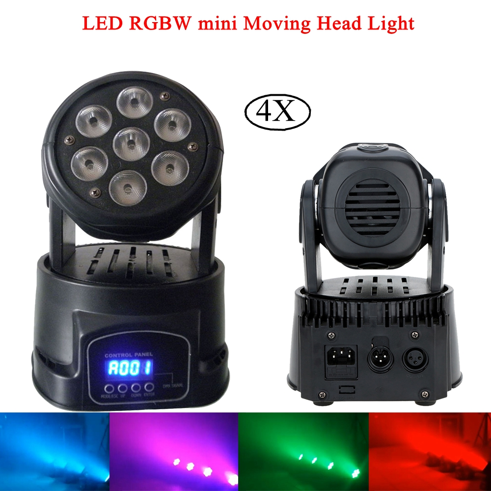 4Pcs/Lot Moving Head LED Wash Stage Lighting 7x10W RGBW 4IN1 Professional DMX512 For Disco DJ Music Party KTV Nightclub Lights 4pcs lot 10w led moving head light rgbw mini moving beams for dj party nightclub lives disco stage lighting ktv wedding party