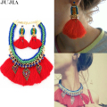 New fashion Z rope chain bib collar bohemia necklace & pendant chunky luxury bubble red rope pendant choker Necklace statement