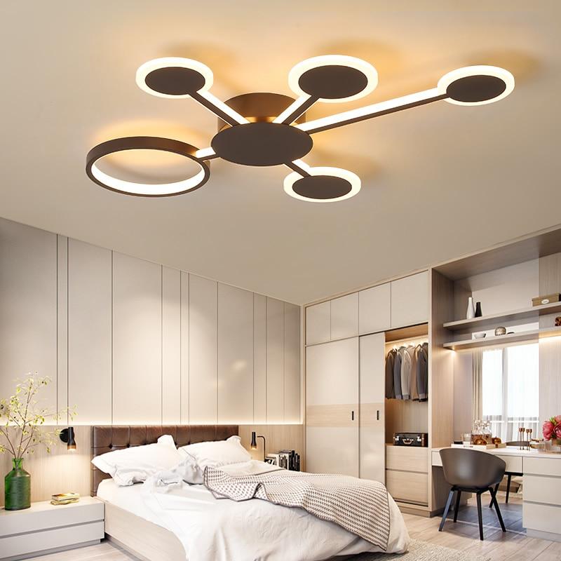 Image 5 - Remote Controller New Design Modern Led Chandelier For Living Room Bedroom Study Room Home Coffee Color Finished Chandelier-in Chandeliers from Lights & Lighting