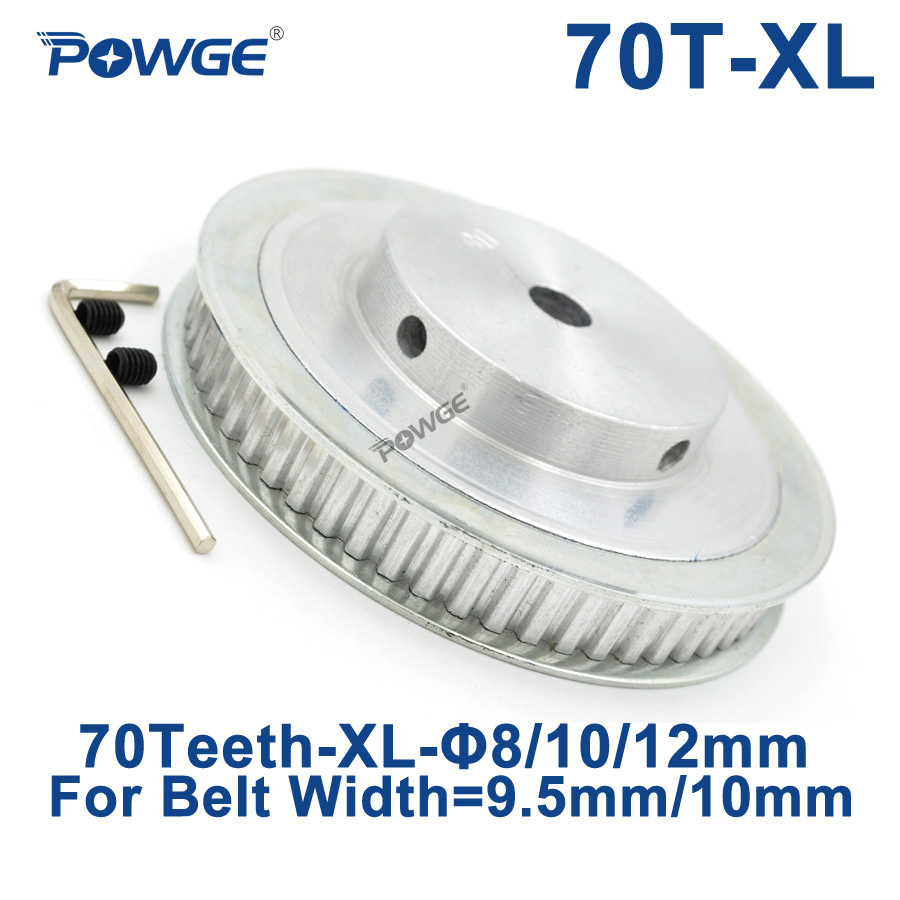 POWGE Trapezoid 70 Teeth XL Synchronous pulley Bore 8/10/12mm for width 9.5mm Timing Belt 70-XL-037 BF 70teeth 70T 0805 0603 0402 1206 smd capacitor resistor assortment combo kit sample book lcr clip tweezer