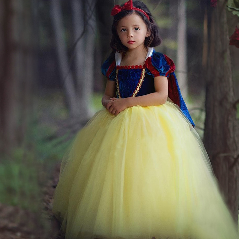 News Top quality Kids Girl princess sofia dress for baby girls snow White Cosplay Costume children Carnival party tutu dresses
