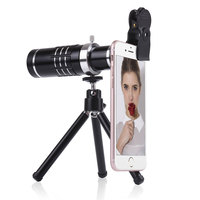 18x Clip on Telephoto Lens Kit With Tripod Metal Clip For Universal Mobile Phone