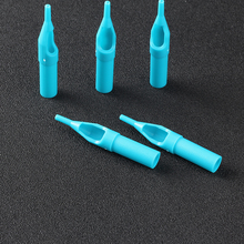 YILONG 1RT Tattoo Tips 50pcs Blue Disposable Tattoo Tips 1RT High Quality Plastic Tips For Tattoo Machine Supplies Free Shipping