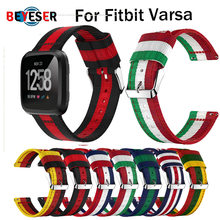 Lightweight Nylon Adjustable Replacement Band Sport Watch Strap bracelet For Fitbit Versa Top Quality Watchband for fitbit versa(China)