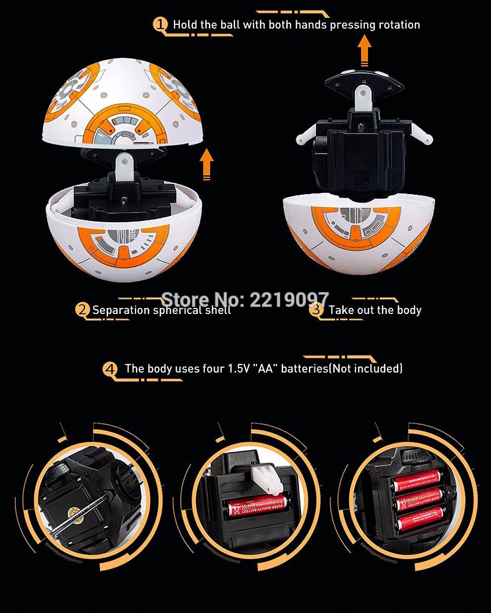 Star Wars Remote Control BB-8 Robot 20.5cm 26
