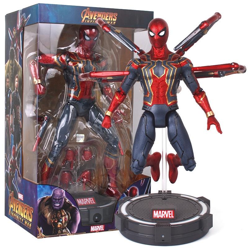 18〜36センチメートルアベンジャーズスパイダーマンPVC玩具関節が動くことができるアクションフィギュアモデル