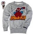 Retail Kids Long sleeve t shirt Long Sleeve baby Boys girl Children 2-7 years Children clothes cartoon Clothing, spider-man