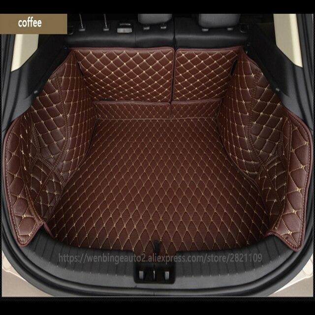 US $91 64 35% OFF|wenbinge Special car trunk mat for Tesla Model S model X  Dodge charger Caravan Caliber Avenger Journey Cargo Liner accessories on