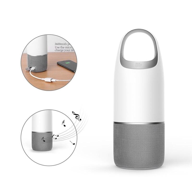NILLKIN 2 dans 1 Puissance Banque Bluetooth Haut-Parleur tf carte musique boîte Portable multi-couleur LED lumière Lampe Chambre bureau & Emballage sac