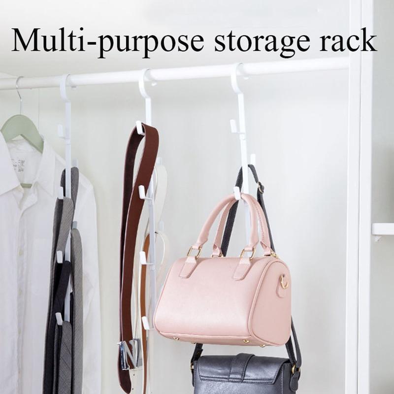 7 Hooks Creative Bag Storage Rack Wardrobe Coat Hook Dormitory Wardrobe Multi-pylons Hanger Home Furniture cnd creative play вase coat 13 6 мл page 7