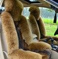 Envío gratis Lobo cojín del asiento de coche de lana pura de invierno modelos de accesorios de piel de oveja esquila asiento trasero de una pieza completa