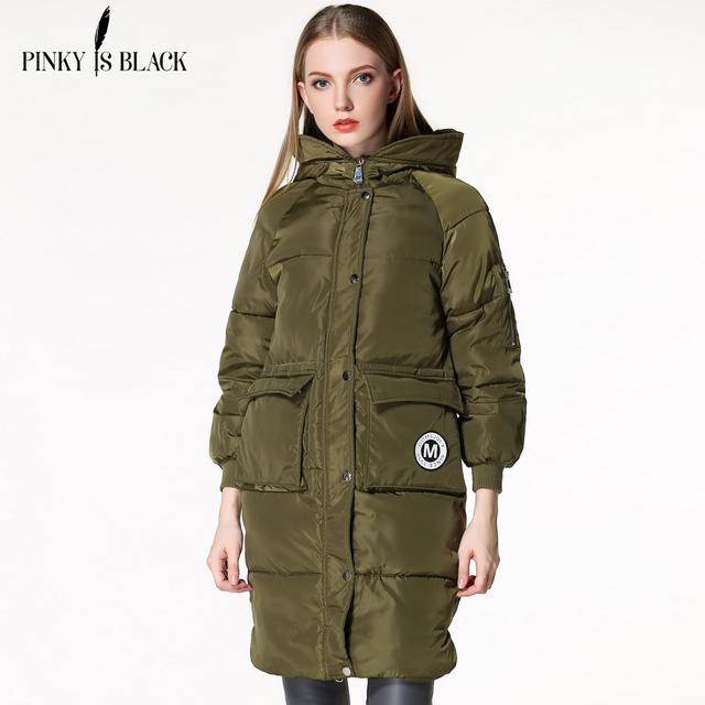 Mulheres Jaqueta de inverno 2016 Nova Moda das Mulheres Longas de Algodão-Acolchoado Com Capuz Jaquetas Parkas Inverno Das Senhoras Plus Size S-3XL Revestimento das mulheres