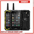"Desbloqueado 6000 mAH Conquista S8 5 ""Android 3 GB RAM 32 GB ROM teléfono GPS Glonass 4G LTE FDD ip68 a prueba de agua Walkie talkie"