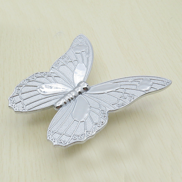 cc32mm cartoon cute butterfly knob furniture handle pull kid bedroom cabinet door handles decorative dresser knobs - Cabinet Door Handles