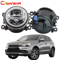 Cawanerl Car H11 4000LM LED Lamp Fog Light + Angel Eye DRL Daytime Running Light 12V Styling For Mitsubishi RVR 2013 2018
