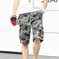 Summer Style Shorts Men bermuda masculina 2018 casual Military Cargo Shorts Knee Length men's camouflage shorts