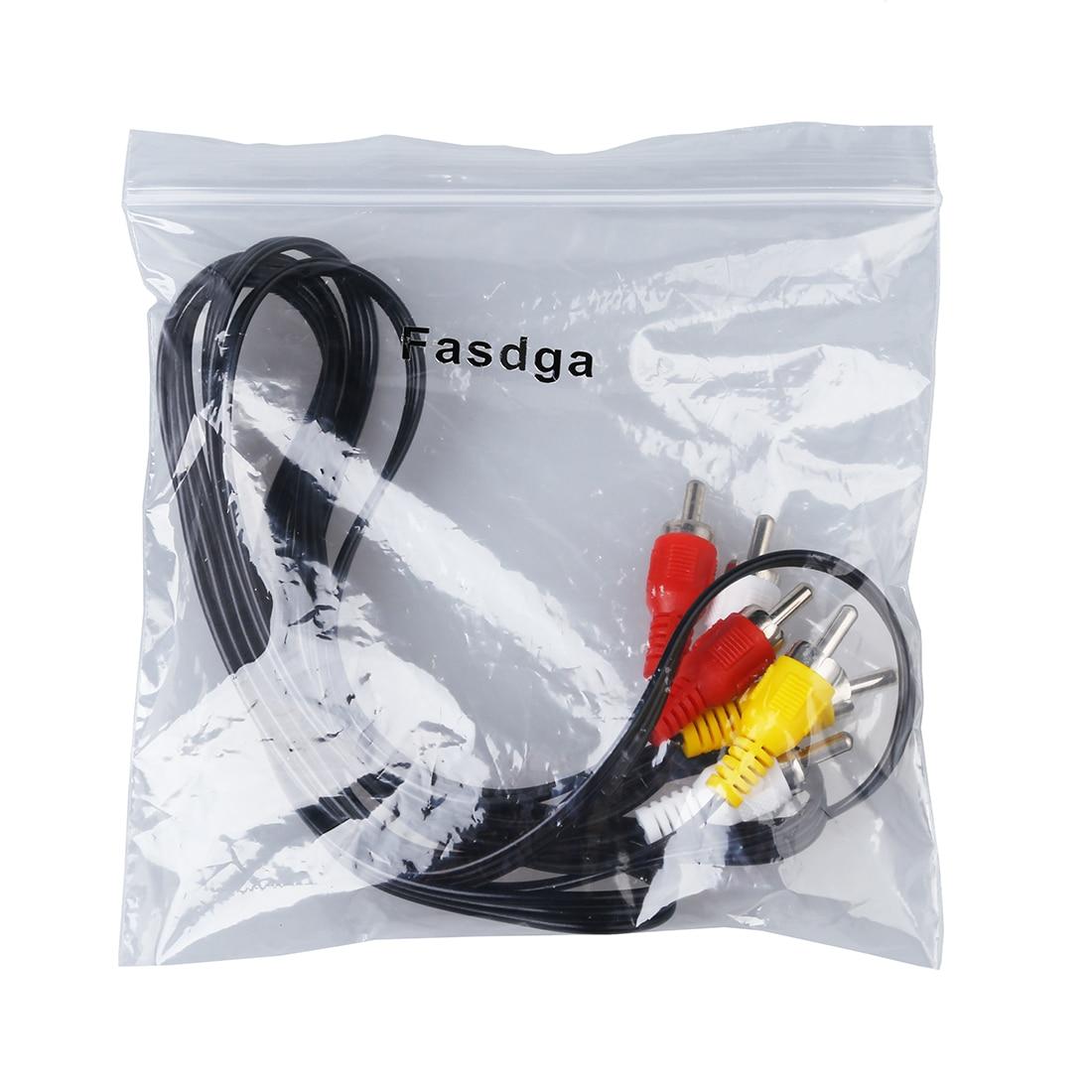 Fasdga Triple 3 Male RCA Composite Audio Video DVD TV AV Cable 1.4M