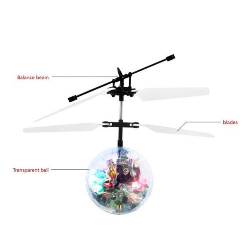 Flying RC Ball Infrared Induction Mini Aircraft Flashing Light Remote Toys For Kids Z901