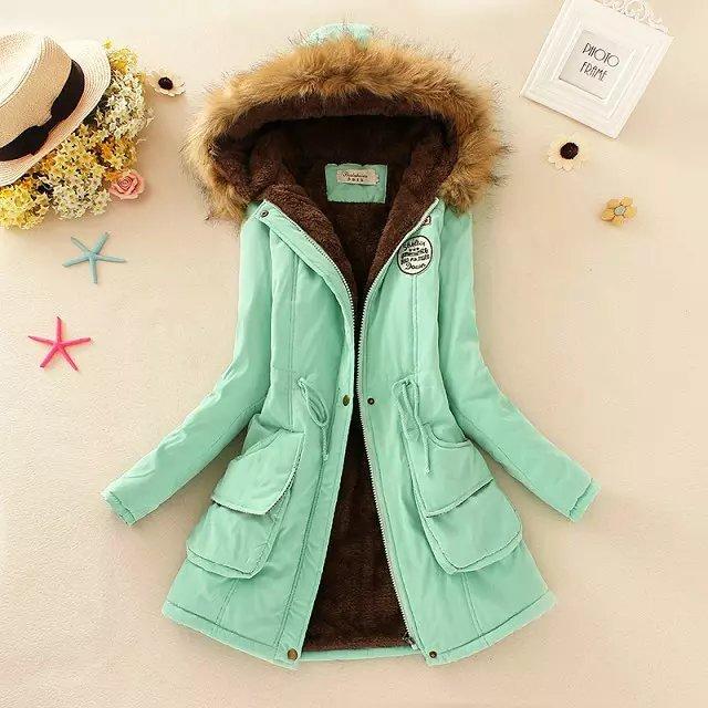 2017 New Winter Cotton Warm Jacket Parka Fur Collar Thicken Warm Fleece Coat Outwear Clothes For Woman XXXL Plus Size C6D1228Y