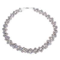 New Designs Wedding Jewelry Real Natural Freshwater Pearl Necklace White Gray Pink Purple Potato Pearl Necklace
