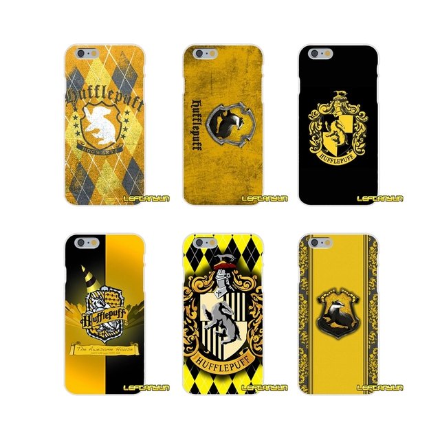 huge discount 46c75 8b212 US $0.99 |Harry Potter Hufflepuff Logo Soft Silicone phone Case For iPhone  X 4 4S 5 5S 5C SE 6 6S 7 8 Plus-in Half-wrapped Case from Cellphones & ...