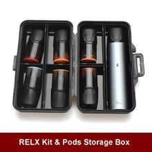 Latest RELX accessories case cover for RELX e-cigarette Protective Case Accessories Anti Scratch Waterproof RELX Storage Box  - buy with discount