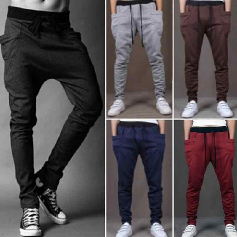 3b5df9c9c ... Men Joggers Sports Sweatpants Big Pockets Gym Trousers Hip Hop Pants  Boys Skateboarding Pants ...
