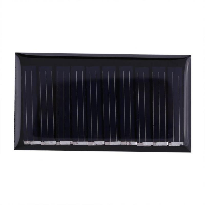 10pcs panel solar Portable painel solar 5V 25MA 0.125W Polysilicon Solar Panel Charging Module Power Supply For Lamps