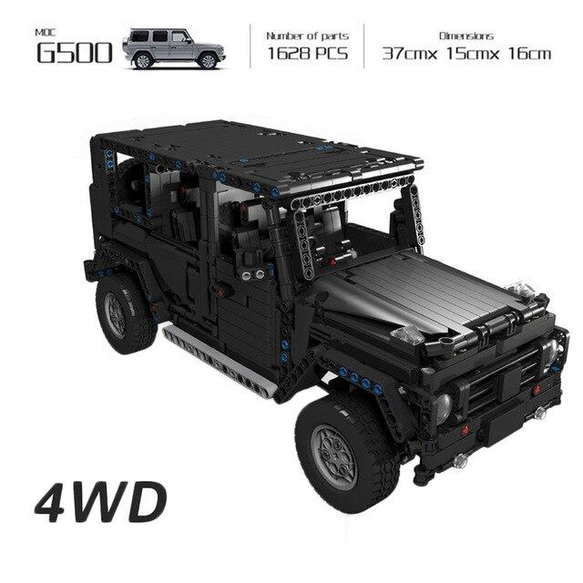 Technic 20100 Compatible Legoinglys Technic MOC 2425 G500 AWD Wagon RC moteurs voiture ensembles blocs de construction briques jouets éducatifs