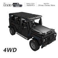 Technic 20100 Compatible Technic MOC 2425 G500 AWD Wagon RC Motors Car Sets Building Blocks Bricks Educational Toys