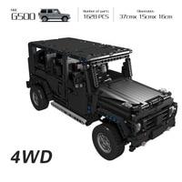 Technic 20100 Compatible Legoinglys Technic MOC 2425 G500 AWD Wagon RC Motors Car Sets Building Blocks Bricks Educational Toys