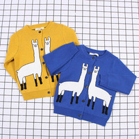 New Spring Children S Alpaca Print Sweater Clothes Boys Girls Mother Cotton Knitting Top Good Quality