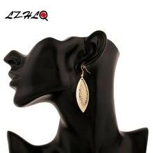 3 пары винтажных висячих сережек lzhlq в виде листьев женские