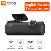 Xiaomi 70mai Dash Cam Wifi coche DVR Cámara 1080P HD Visión Nocturna inglés Control de voz Cámara Auto Video grabadora G-sensor
