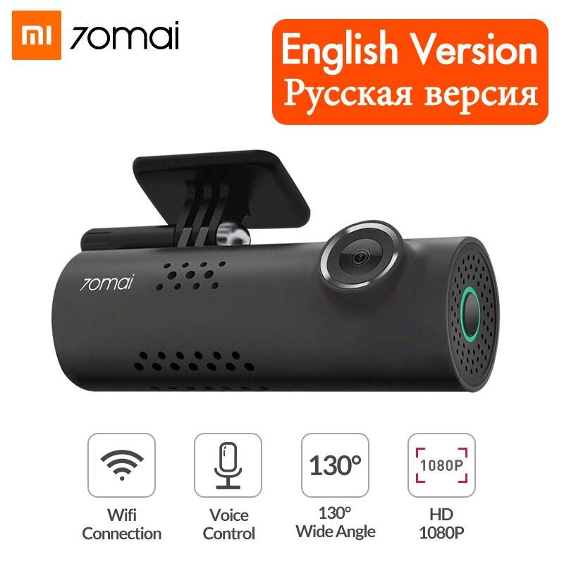 Xiaomi 70mai Traço Cam Wi-fi Câmera Do Carro DVR 1080P HD de Visão Noturna Controle de Voz Inglês Câmera Do Carro De Vídeo Auto gravador G-sensor