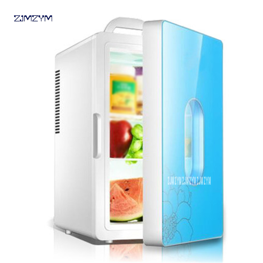 16L car refrigerator 220V 12V mini refrigerator refrigeration dormitory family car home dual-use heater Multi-function HD-16L все цены