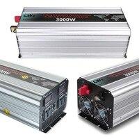 3000 Вт Мощность инвертор 12 В постоянного тока до 110 В 220 В 230 В AC конвертер Чистая синусоида солнечный мощность инвертор с для дома, открытый