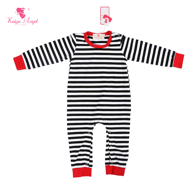 Bodysuits & One-pieces Mother & Kids Kaiya Angel Christmas Red And Black Plaid Cotton Rompers Baby Girl Clothes Newborn Boy Summer Winter Rompers Factory Wholesale