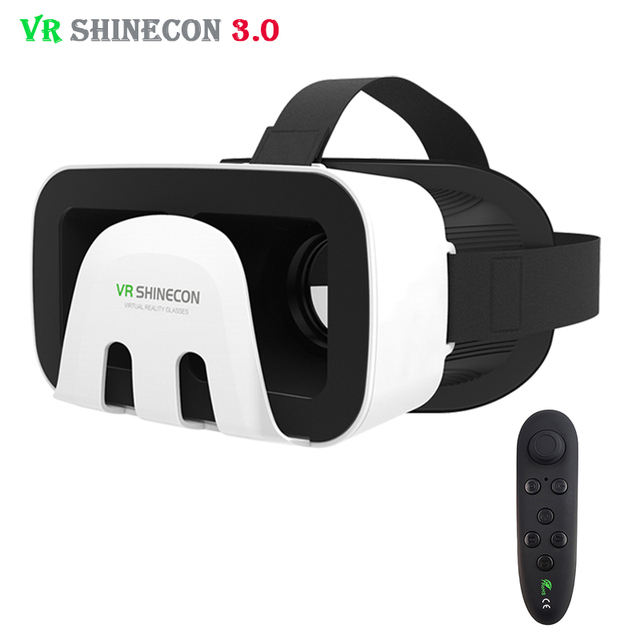 VR Shinecon 3.0 Octopus Style 3D Mobile VR Virtual Reality Glasses Head Mount Helmet ABS Shell Headset for 4.5-6' Mobile Phone