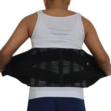 Y015 נשים גברים אלסטי מחוך בחזרה המותני Brace תמיכת חגורת אורטופדי היציבה חזור מותן חגורת תיקון בטן XXXL