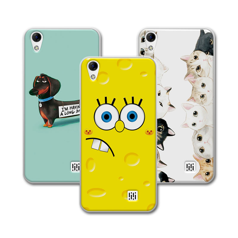 For Doogee Homtom HT16 Case Homtom HT 16 Soft Silicone Case Bear Cartoon Painting Protector For Homtom HT16 5.0