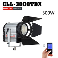 Falconeyes Led Fresnel Light 300W Bi Color Adjustable Focal Length Outdoor Photography Studio Lamp With a Gift of Remote Control