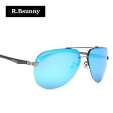 R.Bsunny aluminum magnesium polarized men sunglasses women classic Brand Designer Mirror driving Eyewear Pilot sun glass UV400