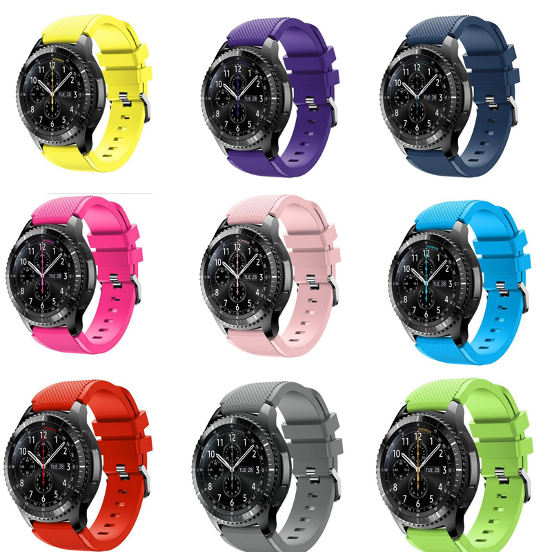 22mm For Xiaomi Huami Amazfit Pebble Time Steel Soft Silicone Man Watch Replacement Bracelet Strap For Samsung Gear S3 Classic